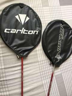 One Pair Badminton Rackets