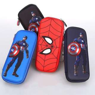 Boys Pencil Box Case Spiderman Captain America