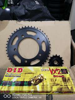 Honda CB400x 2nd Ori Sprocket with DID Chain