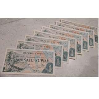 Uang Kuno Rp 1 Pembuatan Tahun 1961 (#114)