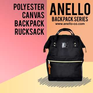 [100% Authentic] Anello Polyester Backpack Large | Anello Backpack Series