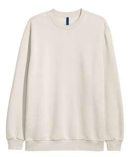 H&M Unisex Creme Crewneck Sweatshirt