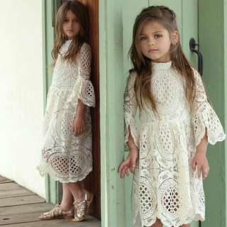 *FREE DELIVERY to WM only / Pre Order 12-14 days* Kids floral wedding lace dress each as shown design/color.   Free delivery is applied for this item.