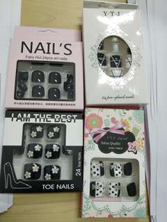 🚚 24pcs/set fake nail/ false nail for toe