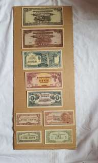 Vintage Japanese Banana Notes