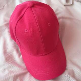 Unisex Pink Plain Baseball Hat - brandnew