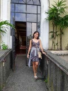 Printed bustier dress