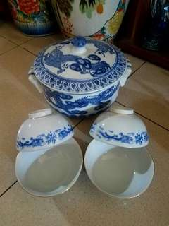 tureen+ mangkok china antik