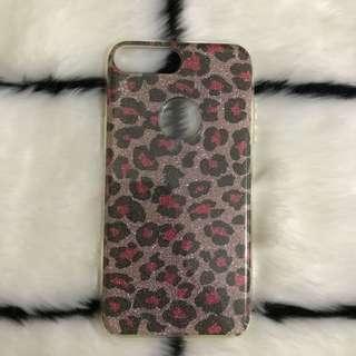 Pink Leopard Glittered Iphone 7/8 Plus Case