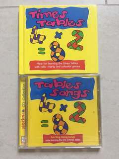 Times Tables Book and Times Tables Songs