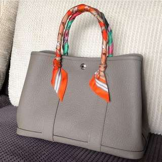 Hermes Garden Party 30 in Gris Asphalt