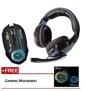 🚚 Alcatroz Gaming Headset & Mouse