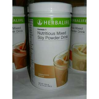 100% Original Herbalife Formula 1 Cappuccino Canister 550g