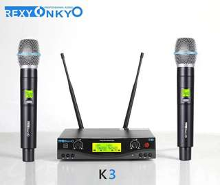 Rexy Onkyo  Wireless microphone UHF 100 Channel