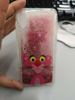 iphone X casing pink panther