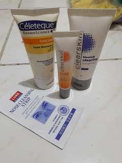 Facial moisturizer and spot corrector