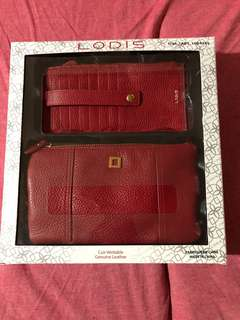 💯% Authentic Lodis Olivia Italian Leather wristlet & Card stacker