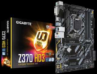 Gigabyte Z370 HD3 with Intel i3-8100 processor