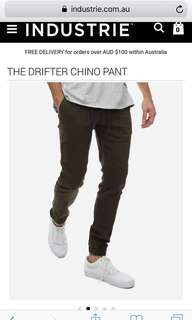 Industrie The Drifter Chino Pants BNWT