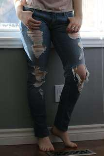 Armani Exchange Size 4 Ripped Jeans