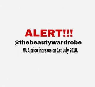 MUA Price Service Increase + Info