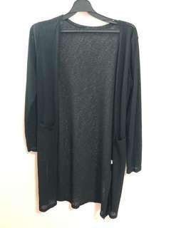 🚚 黑色條紋口袋罩衫