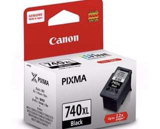 CANON INK 740XL ORIGINAL CARTRIDGE PRINTER BLACK