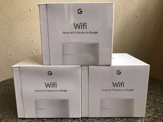 Google WIFI x 3 Sets with Singapore power adaptors