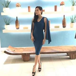 custome made royal blue dress