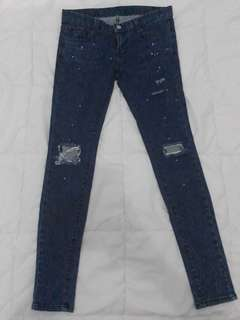 Preloved Blupop Denim Jeans Asli