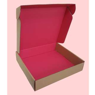 Nice Cherry Red kraft Boxes size 25x21x5cm  5 ( or 10) pieces pack now 30% discount till stock last