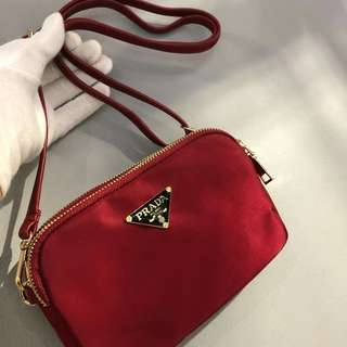 Prada Sling Bag Red