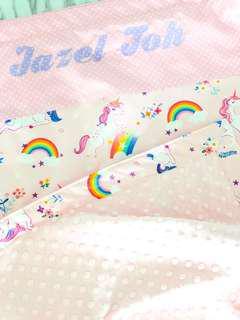 Unicorn Dreams Personalised Baby Minky Blanket