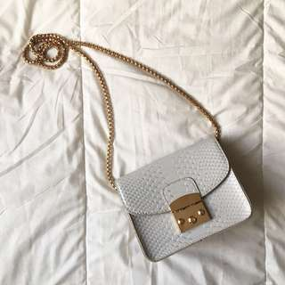 Snakeskin Mini Crossbody Bag