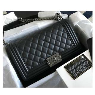 Authentic Chanel Classic Boy Medium Flap Bag