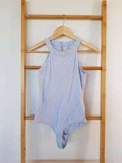 Forever New Bodysuit Size 8 Blue