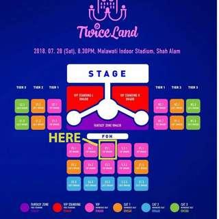 Twiceland Zone 2: Fantasy Park Tickets ( VIP seating E3.1)