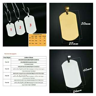 🆕🆒 Personalized Custom Engrave Name Army Pendant Necklace for Men Women Dog Tags Stainless Steel Jewelry Gift