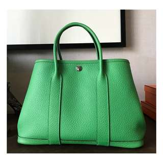Authentic Hermes Garden Party 30 Bamboo
