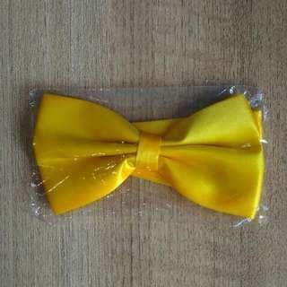 🚚 Golden Yellow Bowtie
