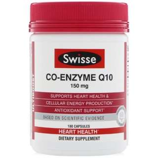 Swisse Co-Enzyme Q10 150 mg 180 Capsules