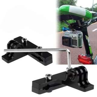 🆕! Saddle Seat Rail Mount Holder For Gopro Hero 4 S 3 Camera / 4K SJ8000   #OK