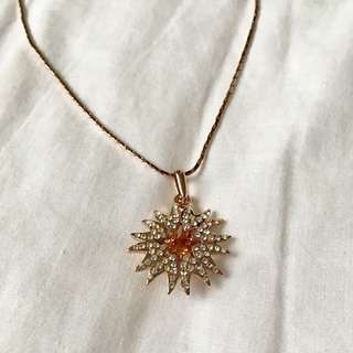 Rhinestone Crystal with Rose Gold Plated Chain