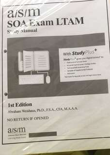 SOA actuarial study manual- LTAM latest edition