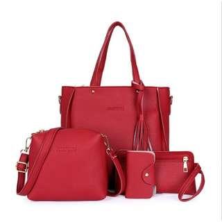 Handbag beg tangan 4 in 1 sling bang purse tote bag