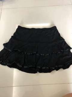 Preloved black mini cupcake skirt