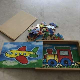 Melissa & Dough 4 twenty four piece wooden puzzles