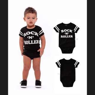 🚚 寶寶Rock'n Roll短袖包屁衣