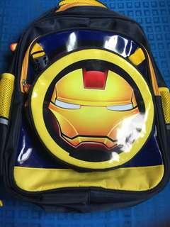 Avenger's Yellow iron man bag with detachable sling bag