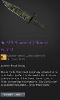 M9 Bayonet Boreal Forest FT